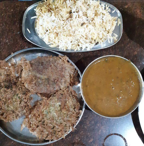 Biryani, Dal gosht and cutlets
