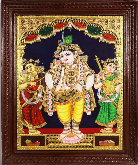 Tanjore painting (source Poompuhar)