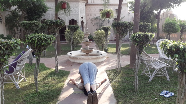 Trying Yoga at Bagh-e-bahisht
