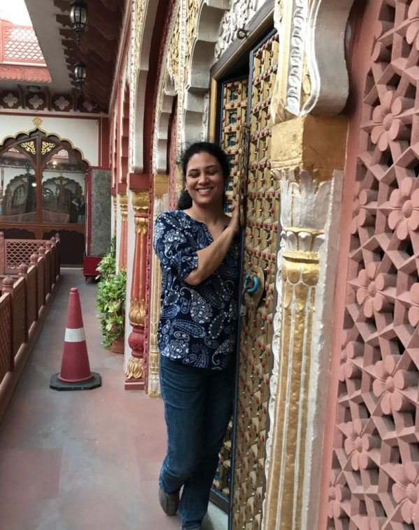 Me and ornate jharokha. Pic courtesy Alka Kaushik