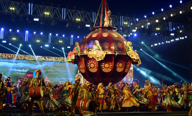 Inauguration of Navaratri festival at Ahmedabad