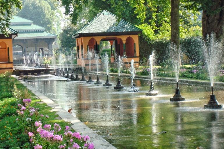 Mughal garden fountains