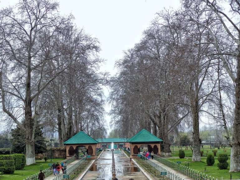 Mughal Garden At Srinagar. Picture from personal collection of Mr Deepak Dua(journalist and Film reviewer)