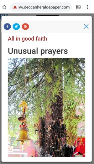 deccan herald unusual prayers