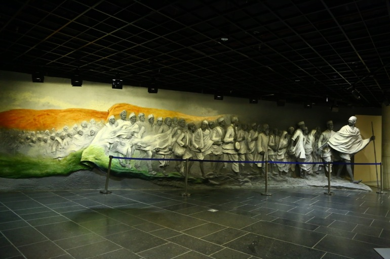 3D representation of Dandi March in one of the galleries