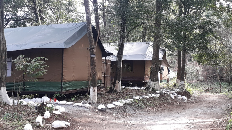 Tented accomodation at Abor Country River camp