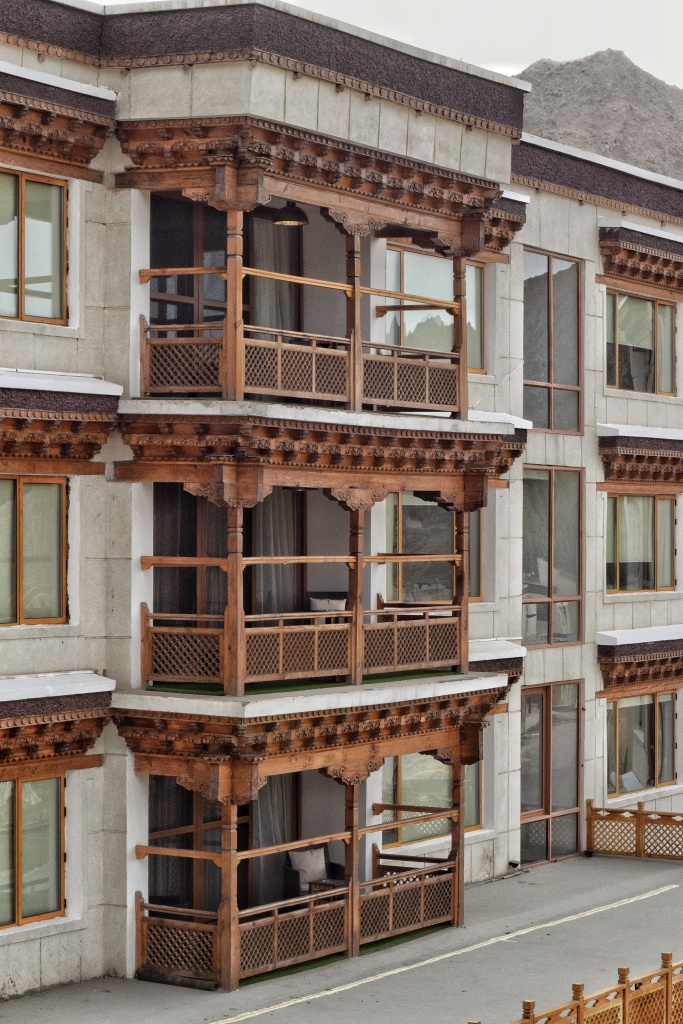 Wooden balconies at Grand Dragon