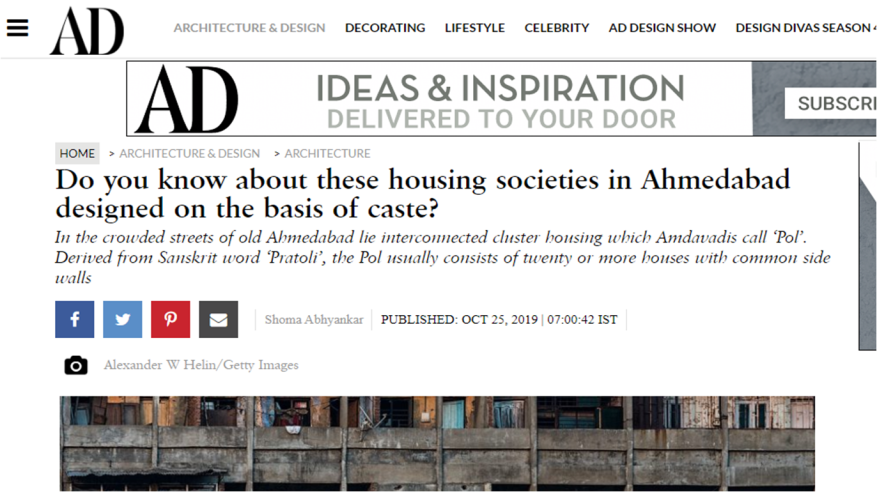 Architectural Digest story
