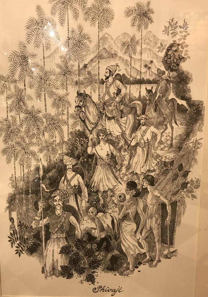 Shivaji and his entourage