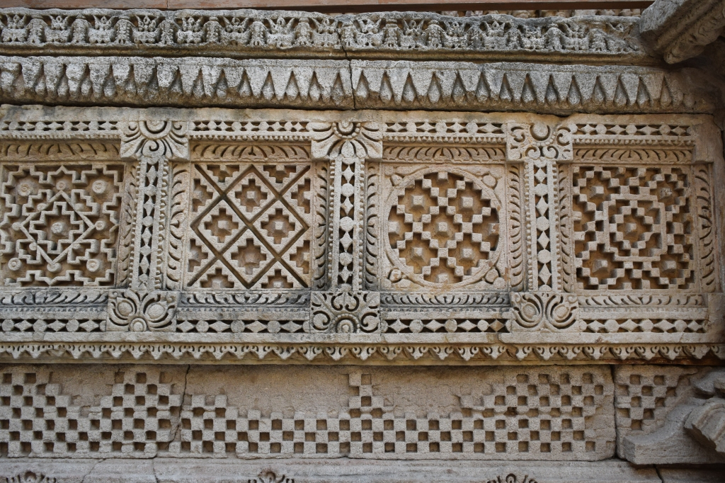 Intricate patterns on stone often depicted on Patola Saris