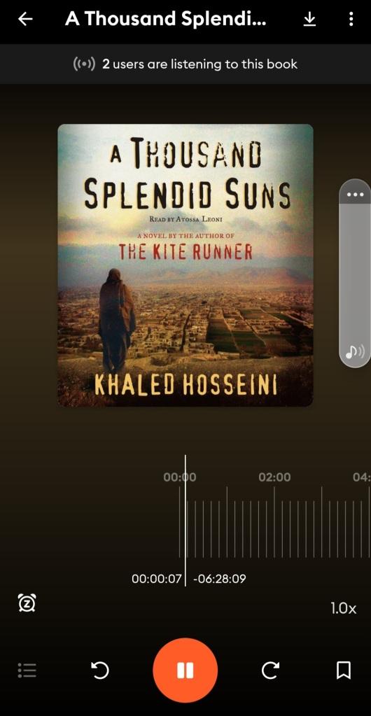 Screenshot of another audiobook on storytel app