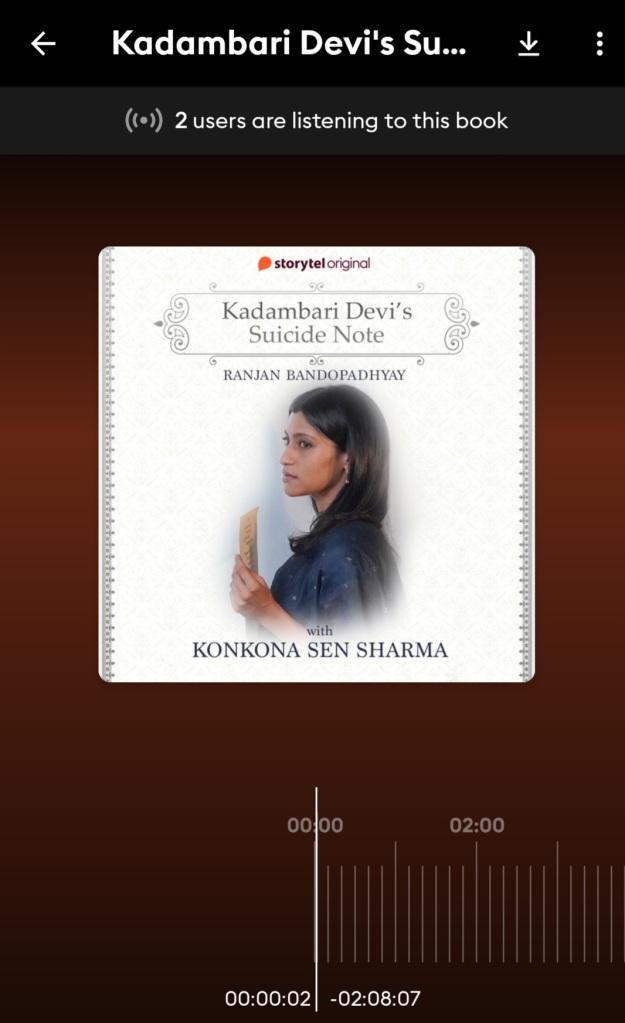 Screenshot of Audiobook on Storytel App
