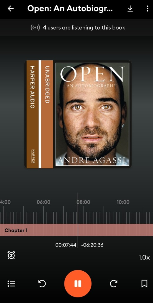 Screenshot of audiobook Open by Andre Agassi